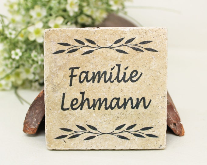 Featured listing image: Charming door sign naming sign ringing sign family name vintage tile