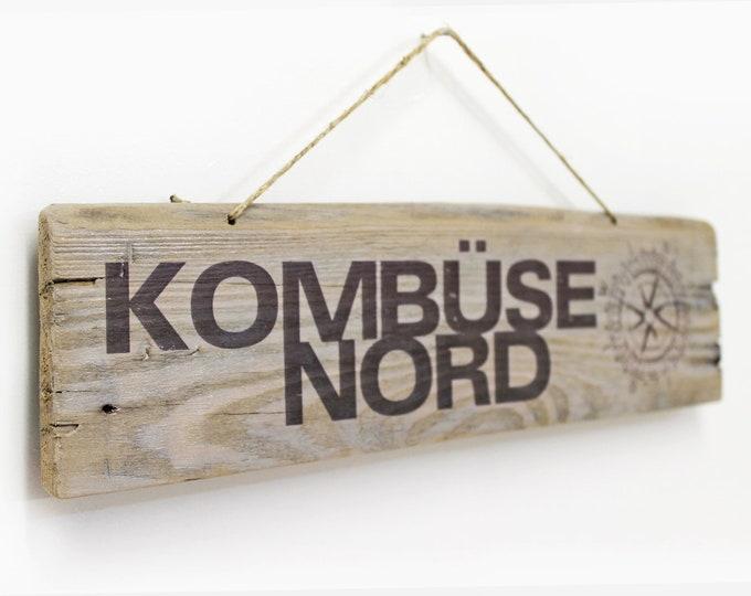 Featured listing image: Galley North mural made of Wood Küchendeko Hanseatic Hamburg Style