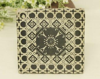 Tunis Grey Concrete Vintage tile/Coaster Retro tile 15 x 15 cm