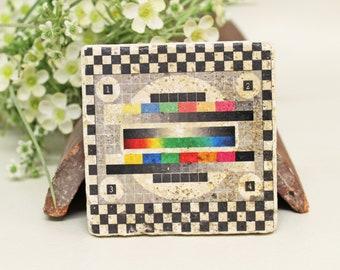 Picture of vintage travertine tile/Coaster Retro