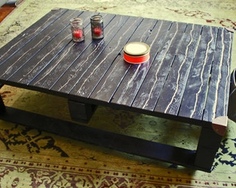 Stylish one-of-a-kind: Coffee table industrial/factory table