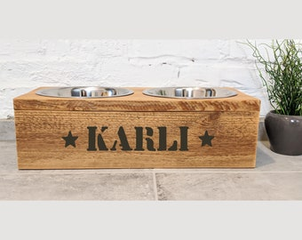 UNIKAT Unique feeding station KARLI for large dogs / Industrial Look
