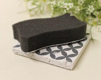 Sponge Pad Tile Vintage Travertine Tile/Coaster/Küchendeko