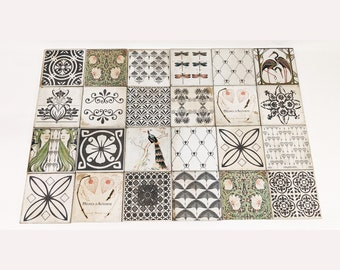 TOULOUSE Set of 24 beautiful vintage tiles / coasters / retro tiles *15 x 15 cm