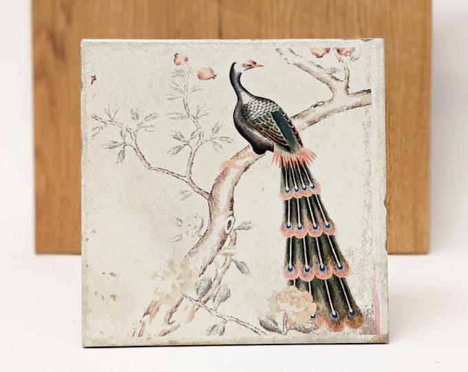 Featured listing image: PAON Large Vintage Tile/Retro Tile/ Coaster15 x 15 cm