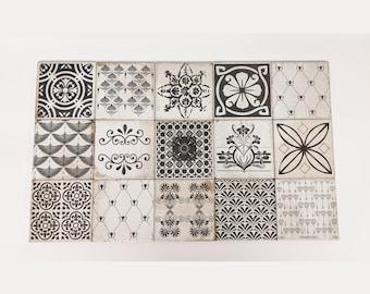 MUCHA Set of 15 beautiful vintage tiles / coasters / retro tiles *15 x 15 cm