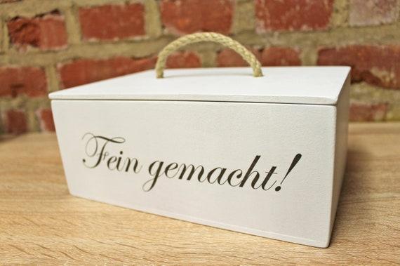 Leckerli-Box aus Holz - individuell beschriftet