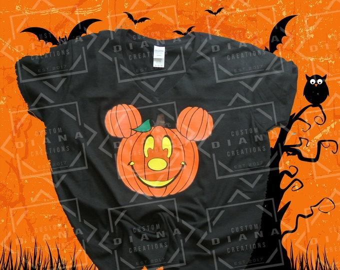 Disney Shirt, Halloween, Disney Halloween, Halloween Shirt, Pumpkin Mickey, Mickey Head, Halloween Mickey head, Halloween Mickey, MNSSHP