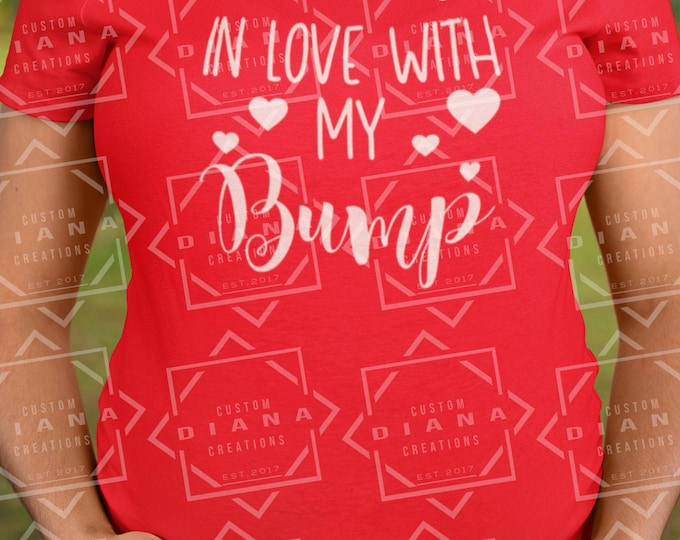 Maternity, Baby, Valentine's Day, Be Mine, In love with my bump, Expecting, New Mom, Gift, Pregnant, Baby Shower, Announcement, Mommy