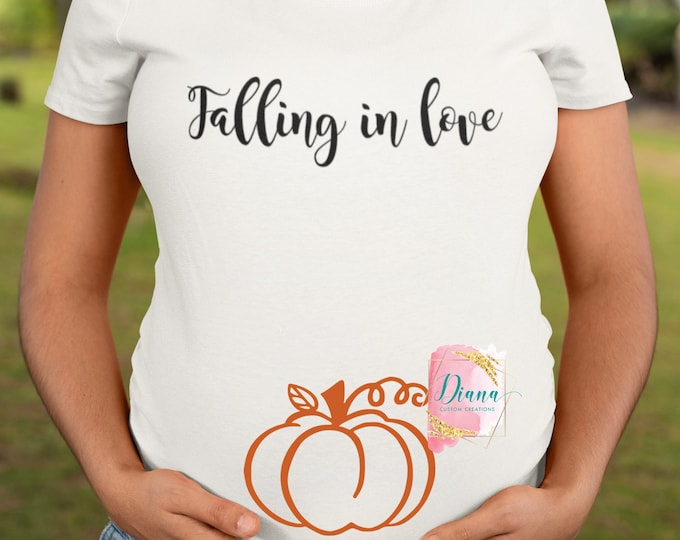 Pumpkin, Falling in love, Fall, Autumn, Halloween, Thanksgiving, Blessed, Announcement, Maternity, Pregnant, Baby, New Mom, Baby shower
