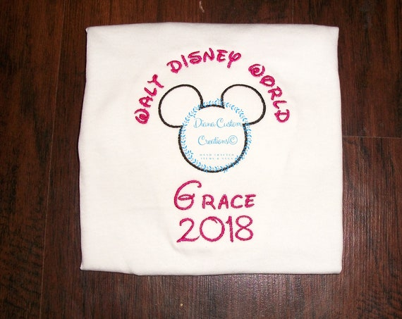 Disney Shirt, Disney Autograph shirt, Disney Keepsake, Disney Autograph, youth girls adult mens womens Embroidered customizable