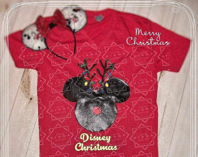 Disney Shirt, Disney Christmas, Mickey Reindeer, Christmas 2018, Very Merry Christmas, Christmas, MVMCP, Minnie Reindeer, Minnie Mouse, Xmas
