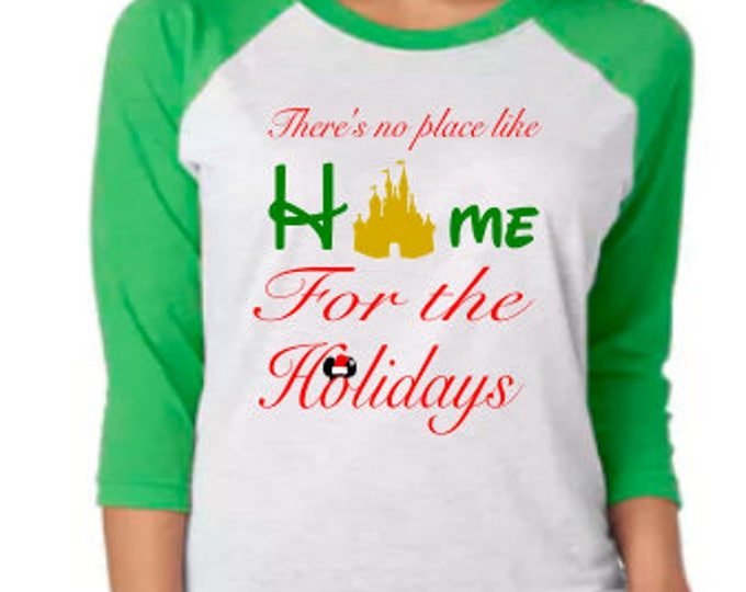 Disney Shirt, Disney Christmas, Home for the Holidays, Disney World, Disney Holiday, Very Merry Christmas, Santa Mickey, Christmas Party