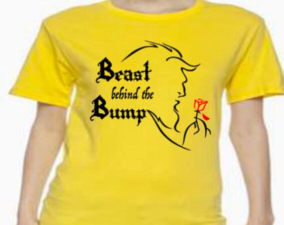 Disney Shirt, Beast, Beauty and the Beast, Beast behind the Bump, Pregnancy, Pregnancy announcement, New baby, baby bump, Disney baby bump