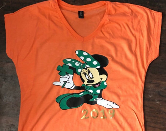 Irish, St. Patricks Day, Minnie Mouse, St Patricks Day Minnie, St Paddys Day, Luck of the Irish, Leprechaun, Lucky shirt, Four Leaf Clover