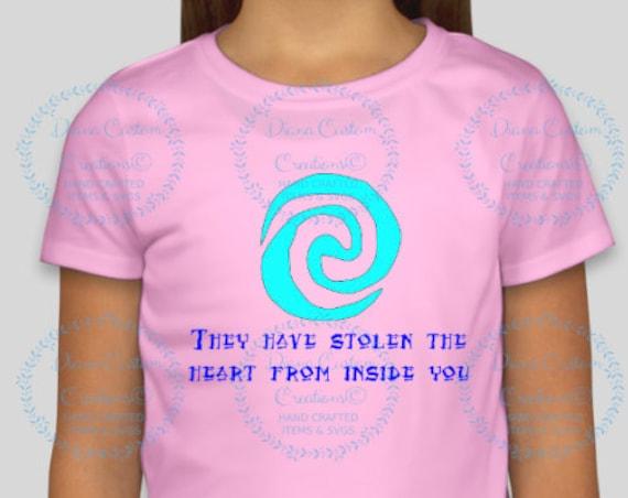 Disney Shirt, Moana, Heart of Tafiti, Moana Shirt, Heart of Tafiti Tee, Matching Shirt, Free Name, Tee, Hoodie, Tank, Raglan, Infant