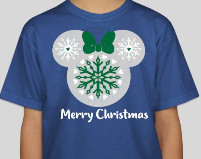 Disney Christmas, Disney Shirt, Christmas, Snowflakes, Mickey heads, Disney World, Disneyland, Christmas at Disney, Present, Xmas, Matching