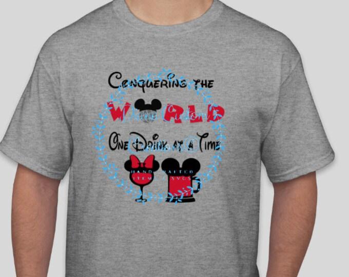 Disney Shirt, Drinking shirt, Epcot Shirt, Food and Wine Festival, Food and Wine, Drinking around the World, Epcot Drinking, Disney Drink