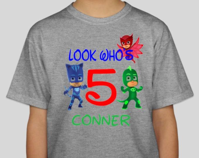 Disney Shirt, PJ Masks, Owlette, Gekko, Catboy, PJ Masks Shirt, PJ Masks Birthday, Owlette Shirt, Catboy Shirt, Gekko Shirt, Customizable
