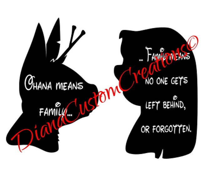 Lilo and Stitch nobody left behind SVG cricut and silhouette