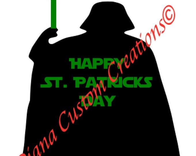 Disney, Darth Vador, Star Wars, Darth Vader SVG, St Patricks Day, Happy St. Patricks Day, SVG, DXF, Jpg, Cricut, Silhouette, Printable