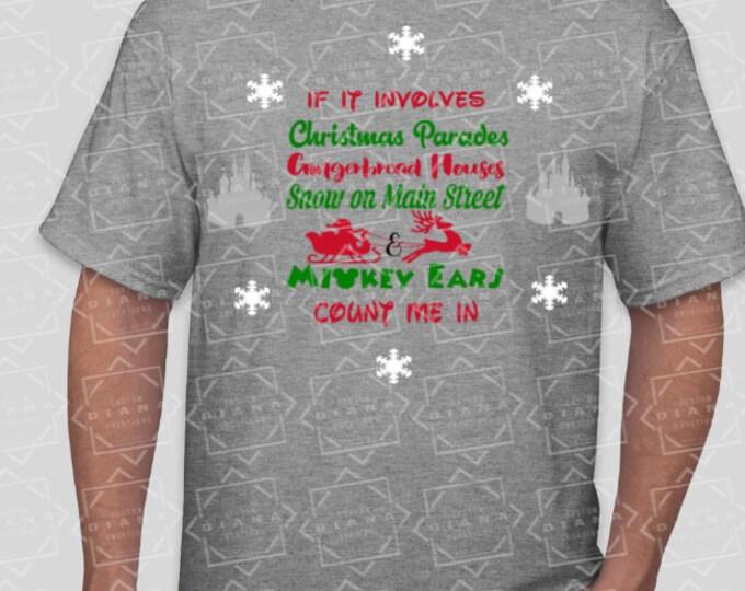 Disney Shirt, Christmas, Disney Christmas, Main Street, Mickey Ears, Christmas Parades, Gingerbread houses, MVMCP, Christmas Party, Mickey