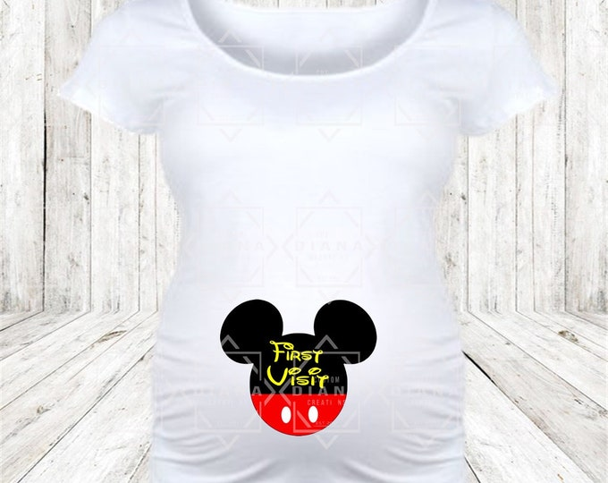 Maternity, Pregnant, Baby, New Mom, Disney Maternity, Baby shower, Birth Announcement, First Visit, Baby Bump, Bump first trip, Disney Tee