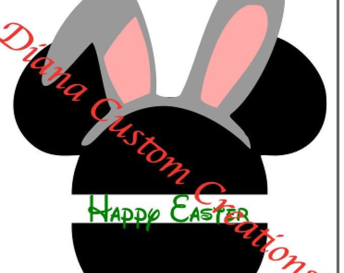 Easter Mickey head Bunny Ears SVG Cricut Silhouette