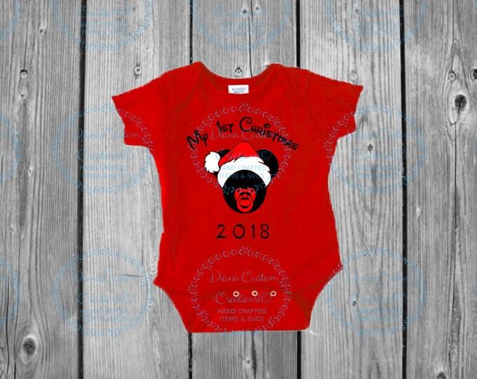 Disney Shirt, First Christmas, First Disney Christmas, Christmas 2018, Baby, Bodysuit, Disney World, Pregnancy, New Mom, New Baby, Christmas