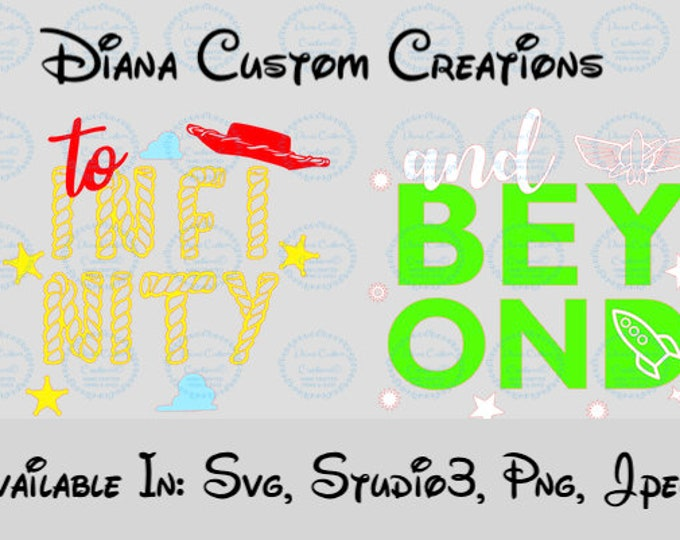 Toy Story, Toy story land, Buzz lightyear, Woody, Couple shirt, To infinity and beyond, Disney World, Cricut, Silhouette, SVG, JPG, Studio3