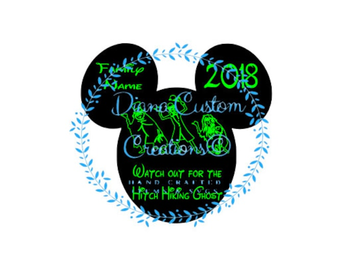 Disney, Haunted Mansion, Hitch hiking ghosts, Mickey head, Haunted Mansion SVG, Hitch Hiking Ghosts SVG, Printable, SVG, Cricut, Silhouette