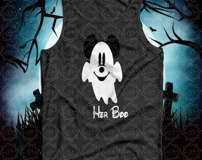 Halloween, Halloween shirt, Mickey Halloween, Disney Halloween, Mickey Ghost, Minnie Ghost, His Boo, Her Boo, MNSSHP, Matching Shirt, Disney