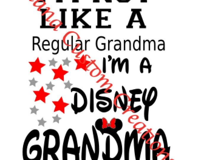 Disney Grandma SVG Cricut Silhouette