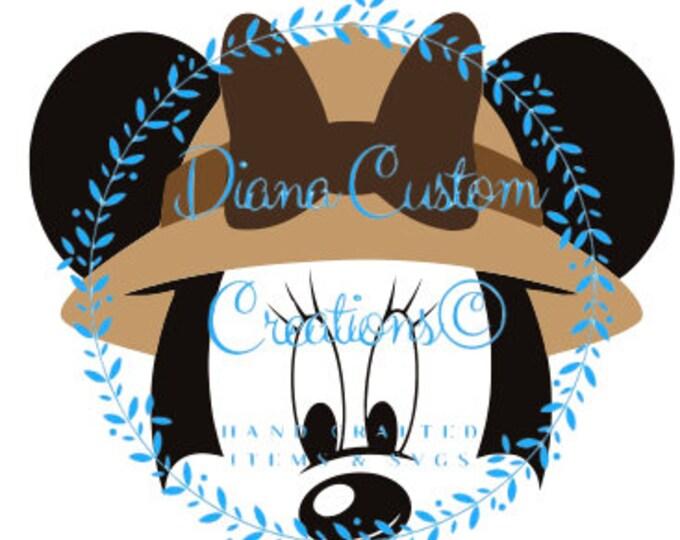 Disney, Minnie, Minnie Mouse, Minnie Safari, Animal Kingdom, Kilimanjaro Safari, Disney World, SVG, JPEG, DXF, Png, Printable file, Digital
