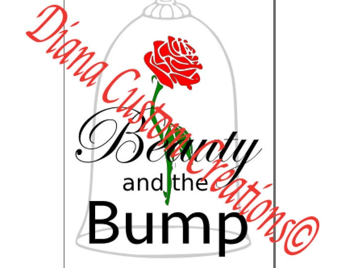 Disney, Disney SVG, Beauty and the Beast, Beauty and the Bump, Svg, Jpg, DXF, Cricut, Silhouette