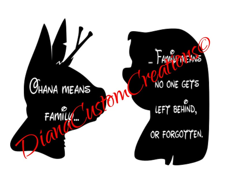 Lilo and Stitch nobody left behind SVG cricut and silhouette image 0