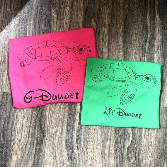 Disney Shirt, Crush, Squirt, Big Dude, Little Dude, Crush Shirt, Finding Nemo, Nemo, Family, Matching Shirt, Vacation Shirt, Disney World