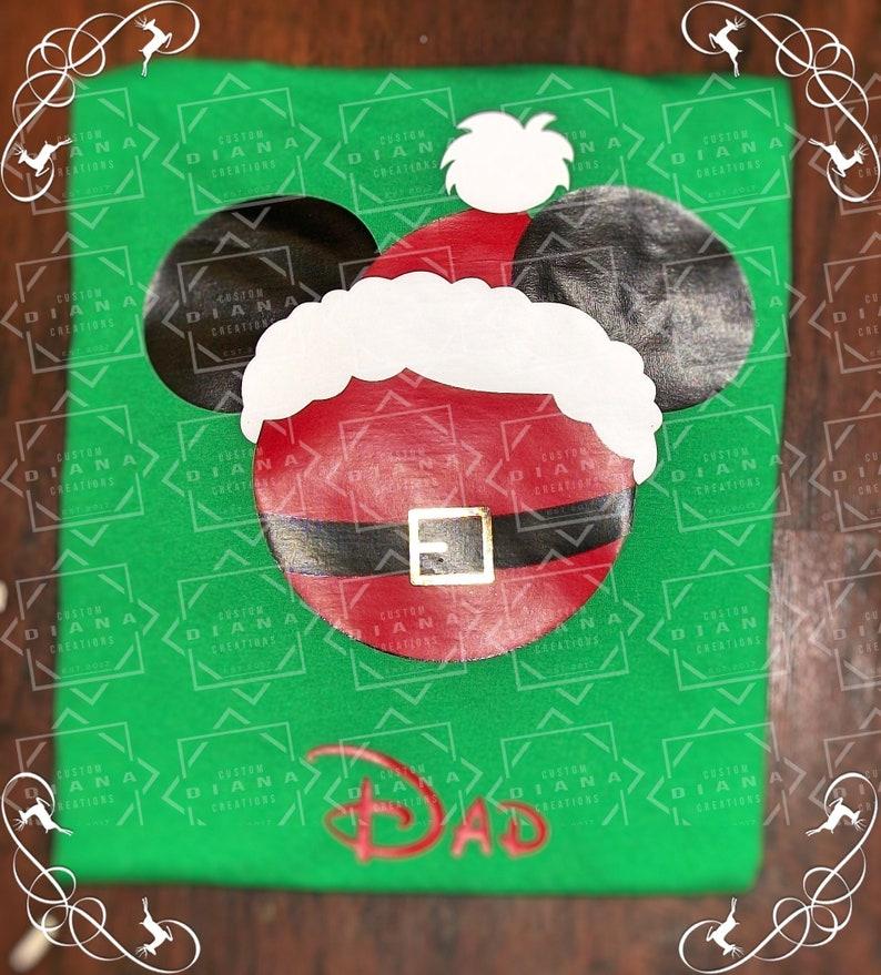 Disney Shirt Mickey Clause Mickey Head Disney Christmas image 0