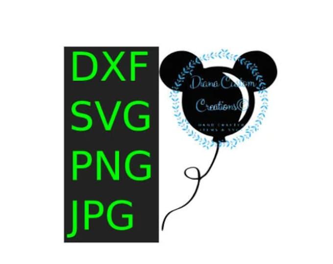 Balloon, Mouse balloon, Mickey Balloon, SVG, DXF,JPEG, Png, Digital file, Printable File, Cricut, Silhouette