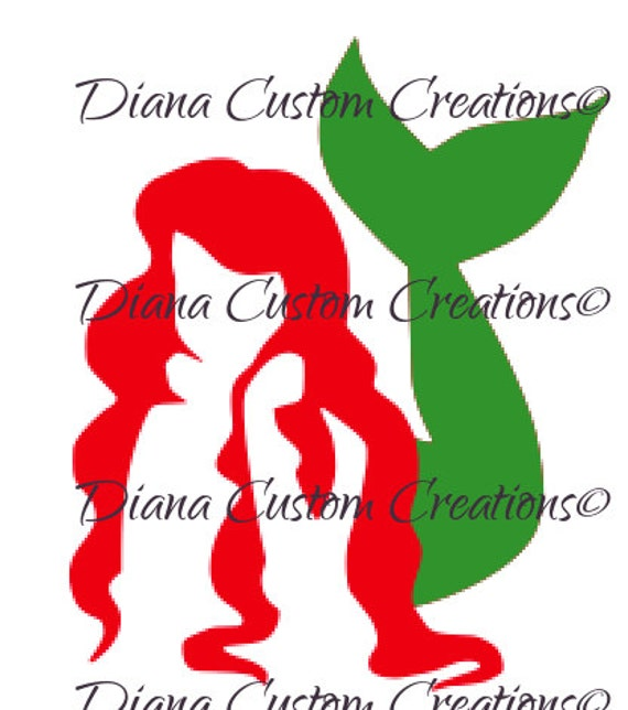 Ariel Mermaid svg cricut and silhouette