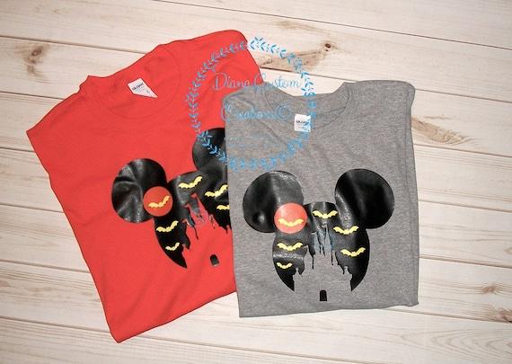 Disney Shirt ~ Halloween Shirt ~ MNSSHP ~ Castle and Bats Mouse head Shirt ~ Womens Mens Youth fitted unisex shirt