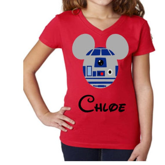 Disney Shirt, R2D2, Star Wars,  Mouse Head, Darth Vador, Storm Trooper, R2D2, Disney World, Galactic Adventure, Star Tours, Galaxy's edge