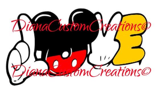 love Mickey cricut silhouette