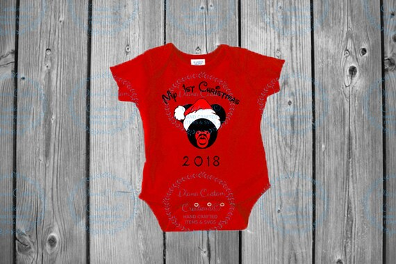 Disney Shirt, First Christmas, First Disney Christmas, Christmas 2018, Baby, Bodysuit, Disney World, Pregnancy, New Mom, New Baby, Christmas