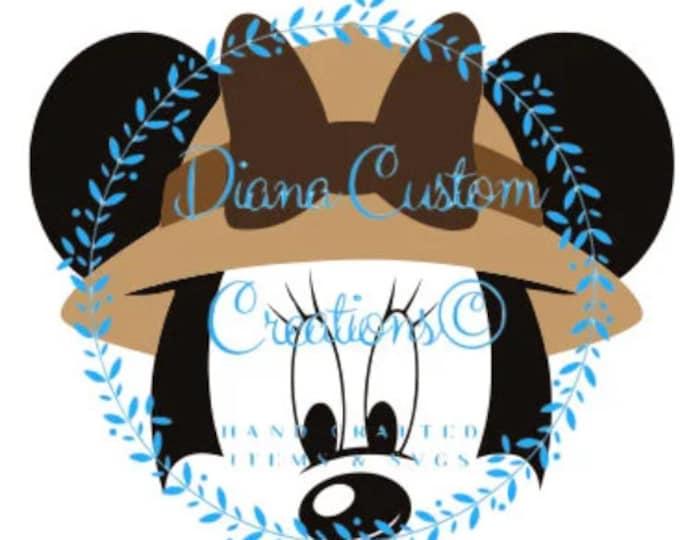 Safari, Minnie Mouse, Minnie Safari, Animal Kingdom, Kilimanjaro Safari, SVG, JPEG, Studio3, DXF, Png, Printable file, Digital