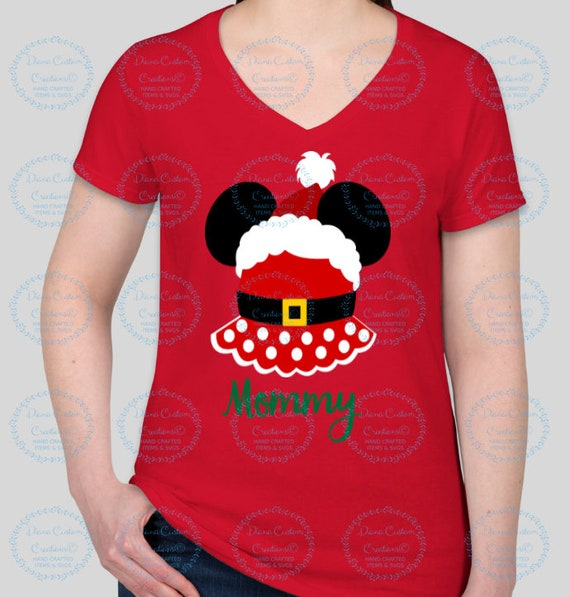 Disney Shirt, Disney Christmas, Christmas 2018, Minnie Clause, Mickey head, Minnie Christmas, Very Merry Christmas, Disney Holiday, Xmas
