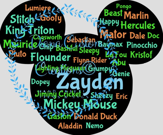 Disney, Disney SVG, Custom SVG, Custom Disney, Disney Digital File, Mouse Head SVG, Mickey Mouse, Custom Mickey Mouse, Custom Disney File