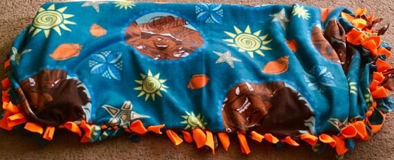 Moana ~ Maui ~ Disney ~ fleece tied blanket