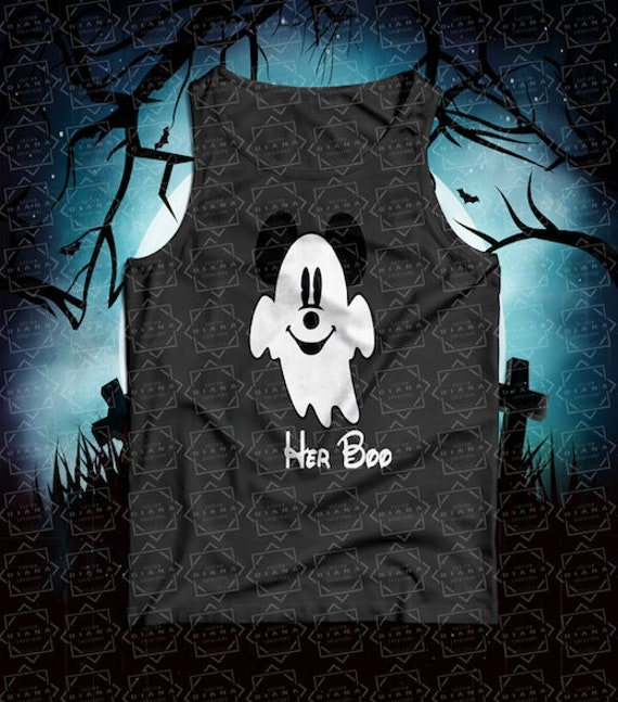 Halloween, Halloween shirt, Mickey Halloween, Disney Halloween, Mickey Ghost, Minnie Ghost, His Boo, Her Boo, MNSSHP, Matching Shirt, Disney
