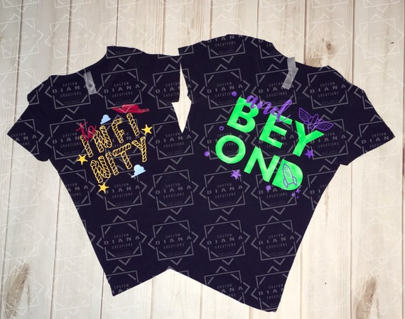 Free shipping, Toy Story, Toy story land, Buzz lightyear, Woody, Couple shirt, To infinity and beyond, Disney World, Matching Shirts,